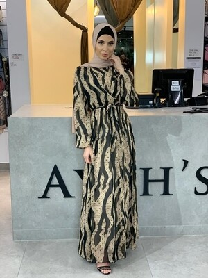 Zebra x Polka Dot Dress
