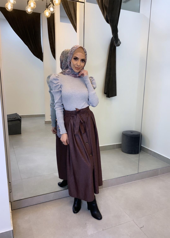 High Waist Skirt Purple
