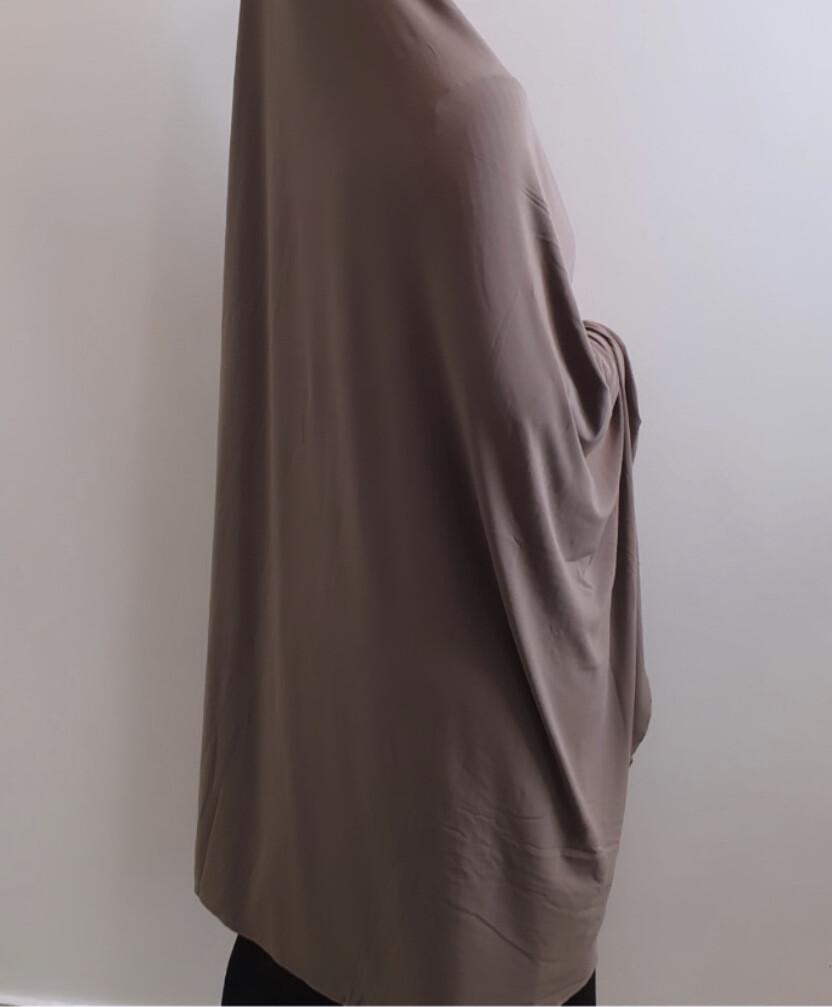 Jilbab in mocha