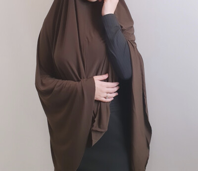Jilbab in brown