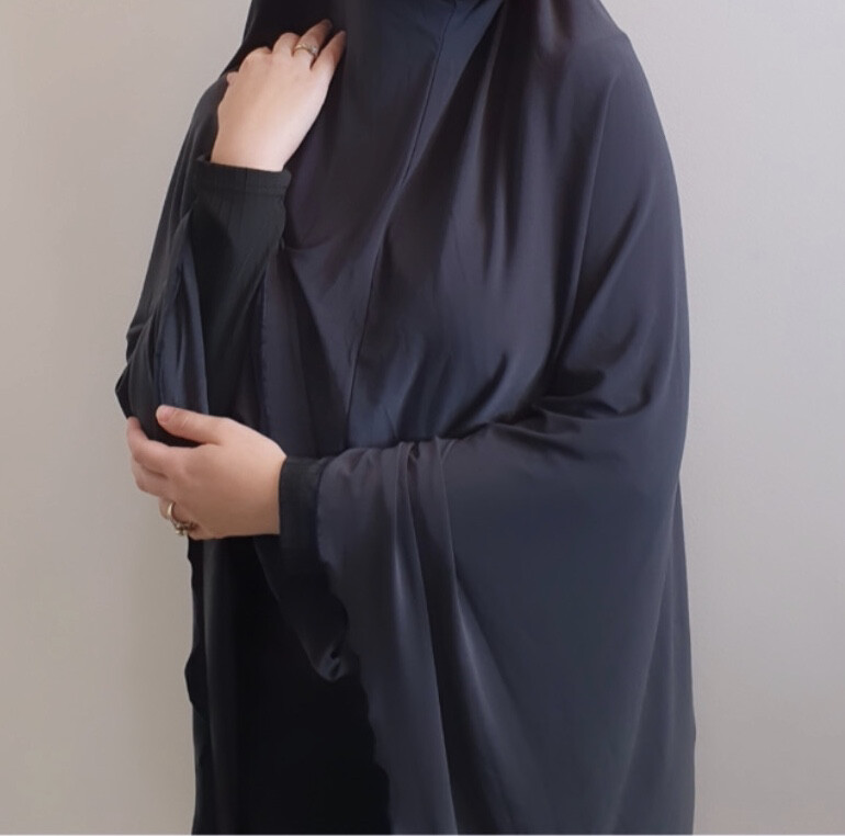 Jilbab in stone grey