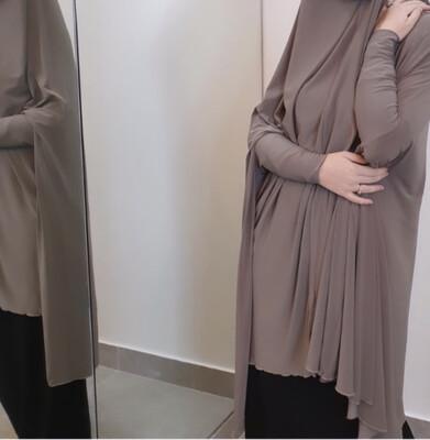 Jilbab Sleeved Mocha