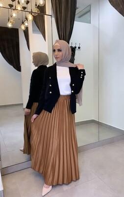 Pleat Skirt Rust