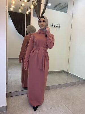Embellished Tie Front Dress Pink