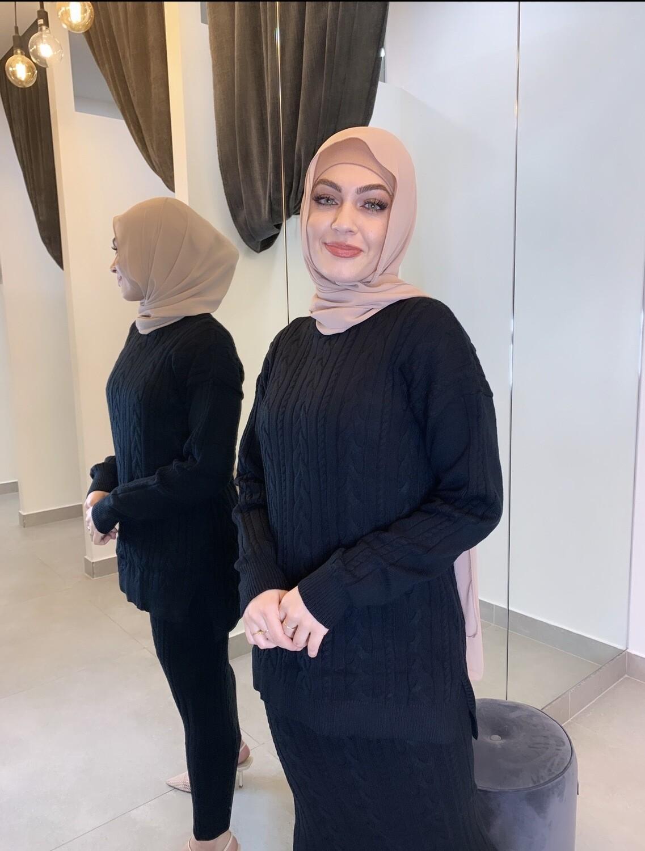 Knit Style Set Black