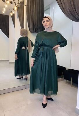 Shimmer Dress Turquoise