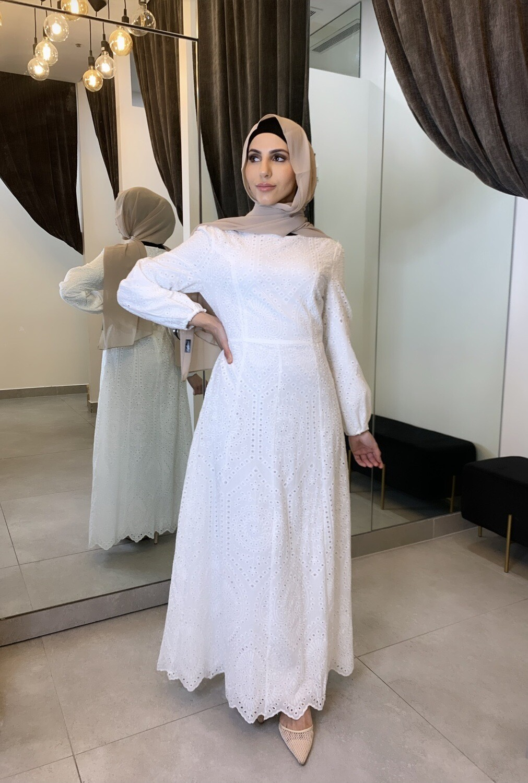 Lace Long Sleeve White