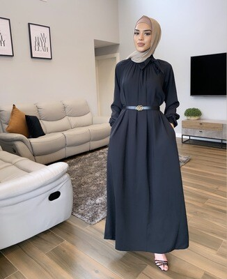 Turkish Bow Dress Black