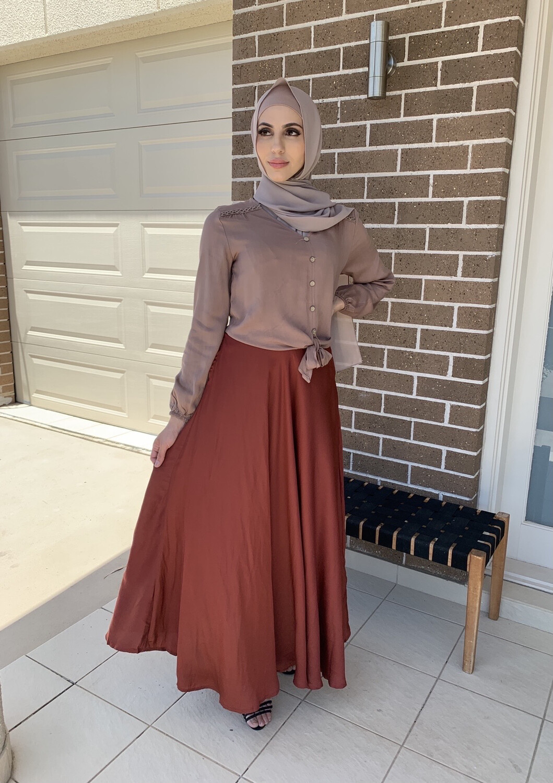 Longline Skirt Brick
