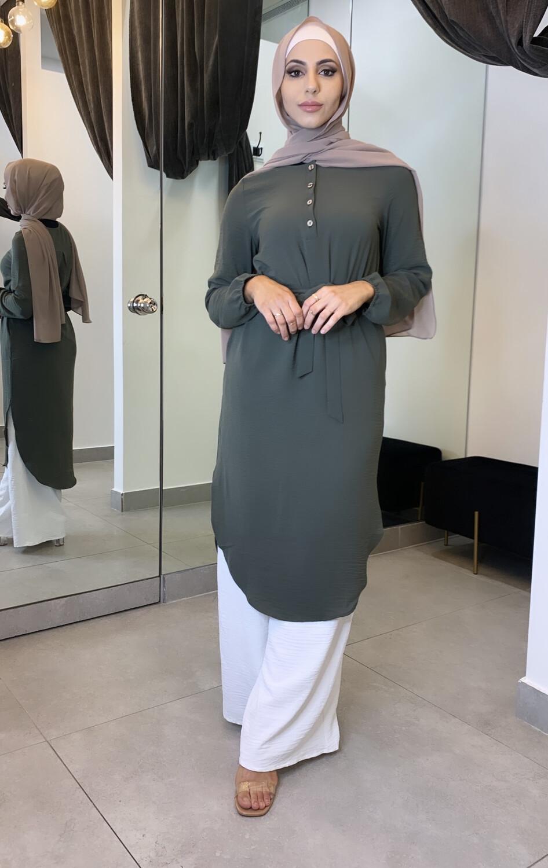 Belted Blouse Khaki
