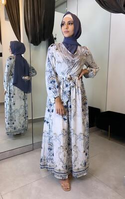 Embellished Dress White