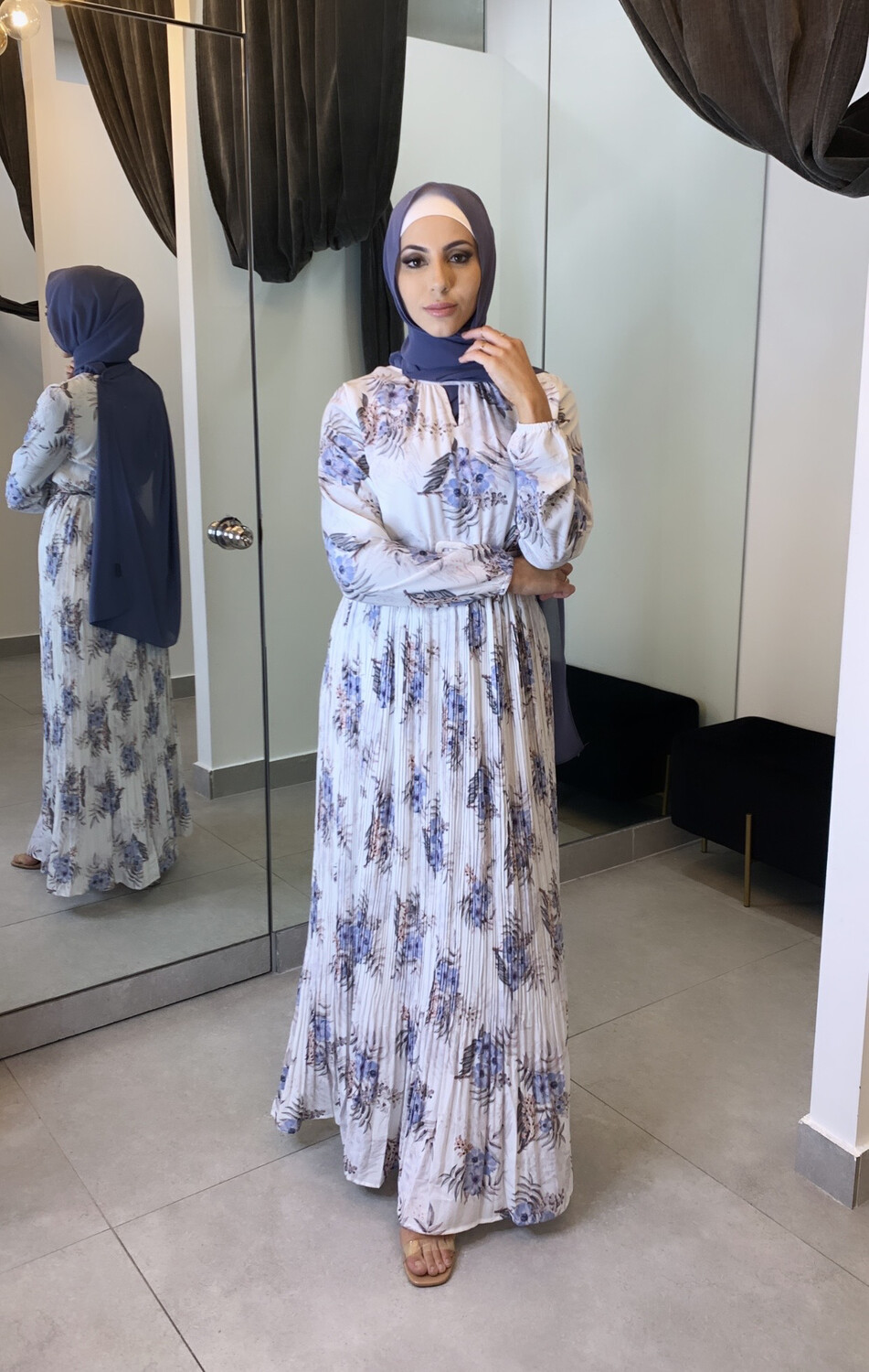 Mariam Belted Dress White