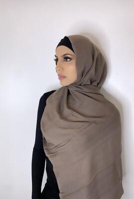 Tassel Free Cotton Hijab Dark Mocha