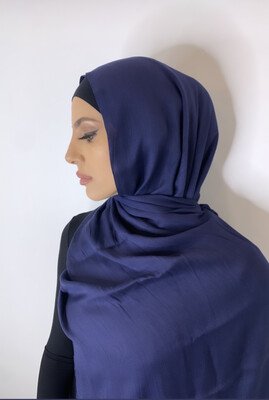 Tassel Free Cotton Hijab Navy
