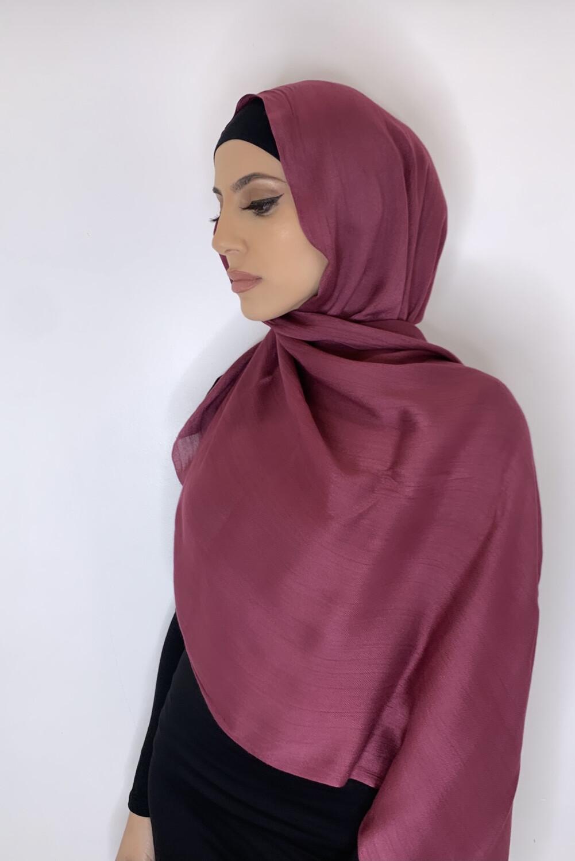 Tassel Free Cotton Hijab Raspberry
