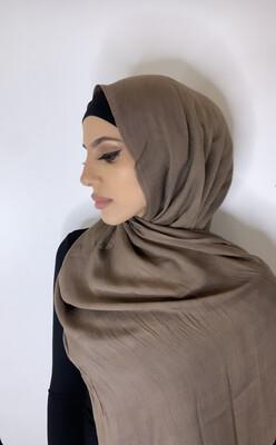 Tassel Free Cotton Hijab Mocha