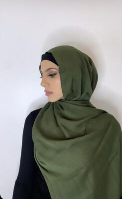 Tassel Free Cotton Hijab Green 42