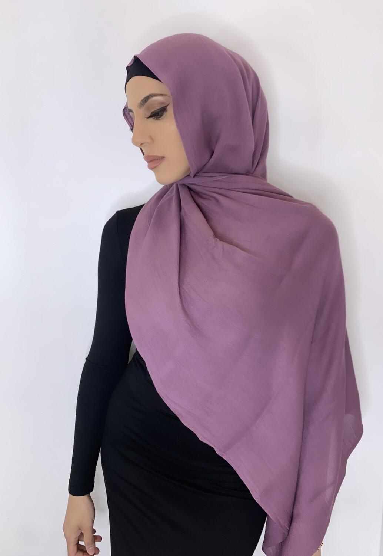 Tassel Free Cotton Hijab Lavender 51