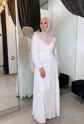 Lace Detail Dress White