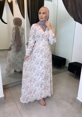 Lace Detail Dress Floral