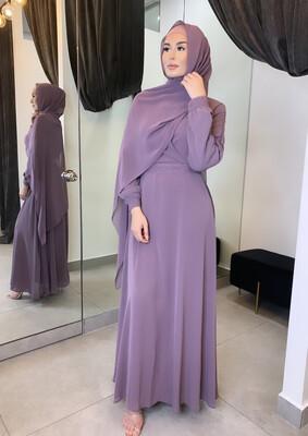 Lace Detail Dress Purple