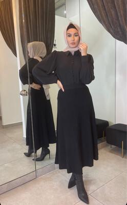 Knit Skirt Black