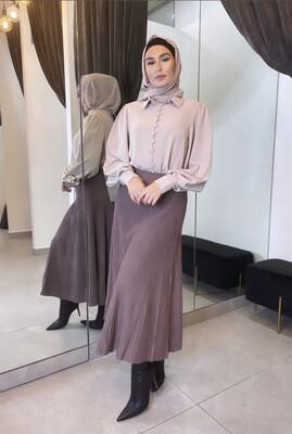 Knit Skirt Mocha
