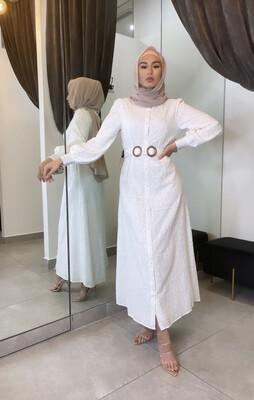 Broderie Dress White