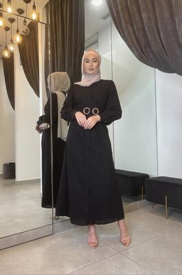 Broderie Dress Black