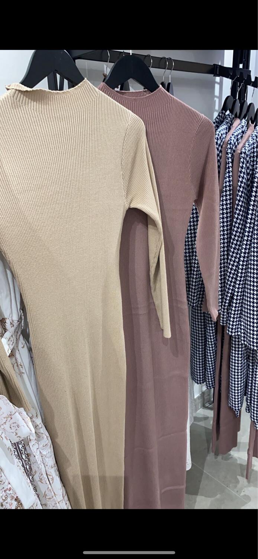Knit Ribbed Body Dress