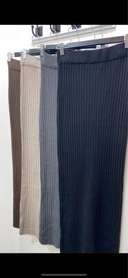 Basic Ribbed Skirt Beige