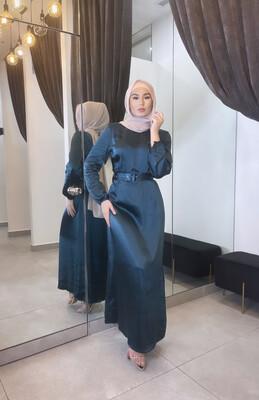 Satin Dress Turquoise