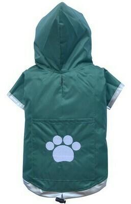 Regenjacke mit Kapuze Doggydolly grün Auslaufartikel