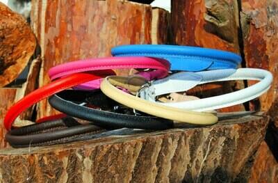 Halsband rund aus Nappaleder Showhalsband