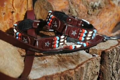 Lederhalsband Indian Dox Star Indianer Style