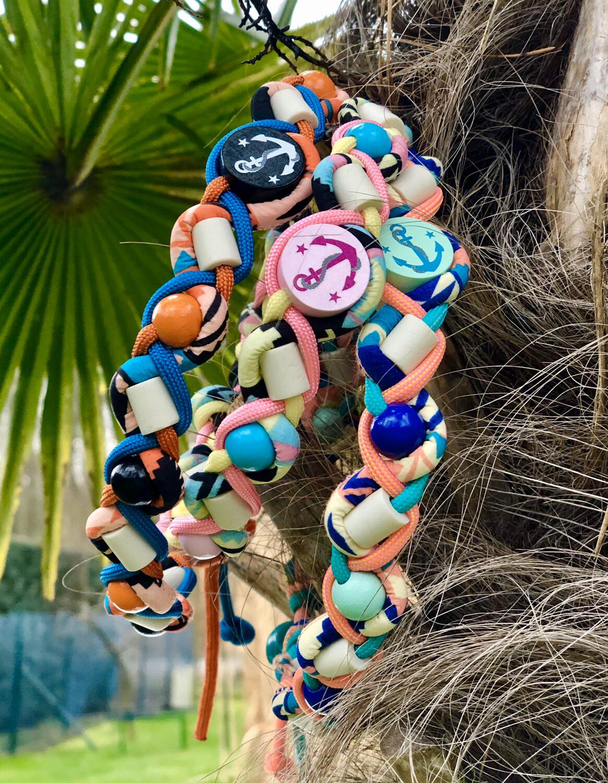 EM-Kette Summer Ethno / EM-Keramikketten / EM-Keramik Halsband gegen Zecken