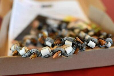 EM-Ketten/ EM-Keramikketten  / EM-Keramik Halsband  gegen Zecken mit Bernstein und Perlen