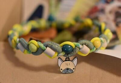EM-Kette Kork mit Bully  / EM-Keramikketten / EM-Keramik Halsband gegen Zecken