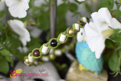 EM-Kette Bumble Bee/ EM-Keramikketten / EM-Keramik Halsband gegen Zecken