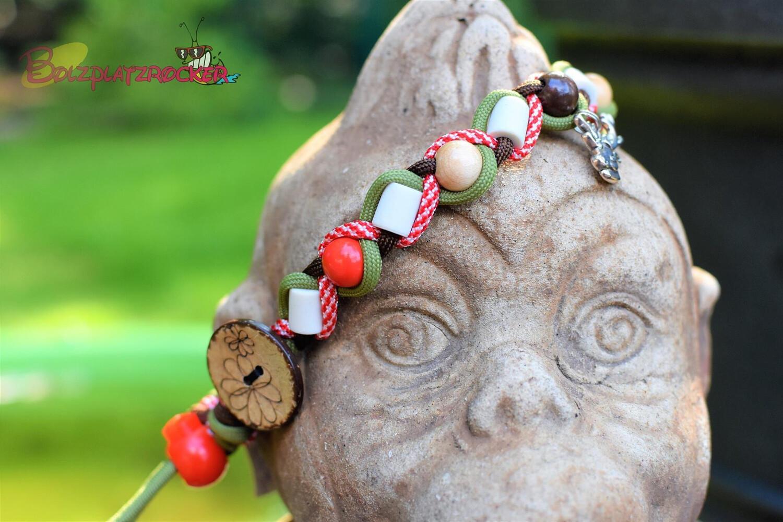 EM-Kette Candy cane/ EM-Keramikketten / EM-Keramik Halsband gegen Zecken