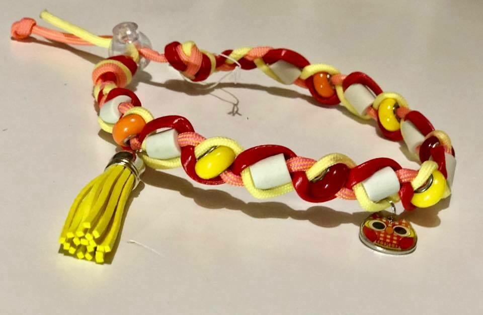EM- Keramikkette gegen Zecken für einen Halsumfang von ca. 32-36cm