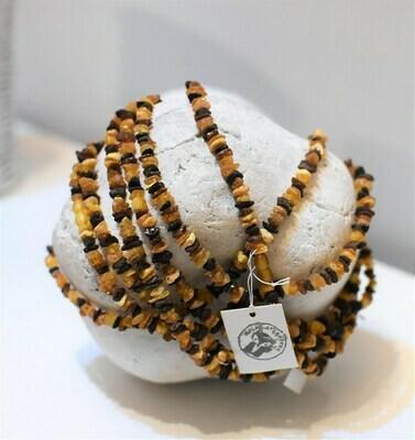 Bernsteinkette mit Drehverschluss bis 42cm Halsumfang