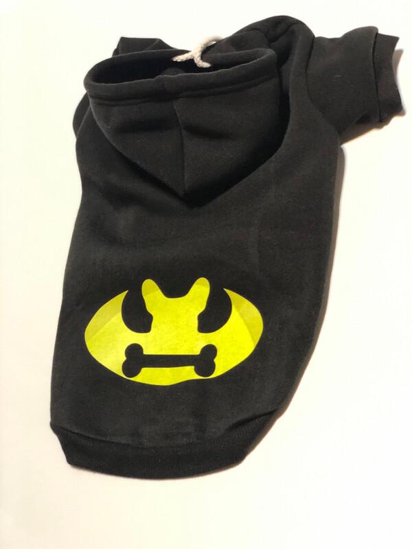 Hoodie XL mit Druck schwarz / gelb