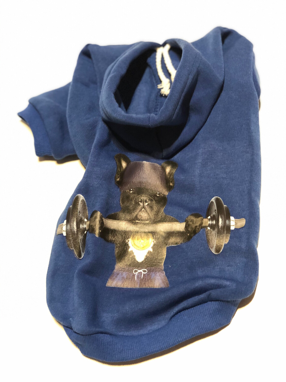 Hoodie XL mit Druck bunt blau