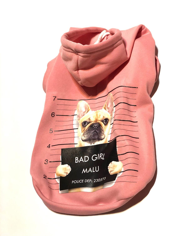 Hoodie XL mit Druck rosa / bunt