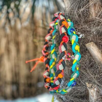 EM-Kette colori primaverili / EM-Keramikketten / EM-Keramik Halsband gegen Zecken