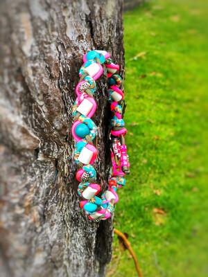 EM-Kette neo flower / EM-Keramikketten / EM-Keramik Halsband gegen Zecken