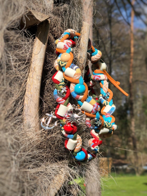 EM-Kette Hippie Beach / EM-Keramikketten / EM-Keramik Halsband gegen Zecken