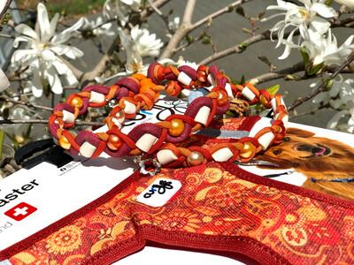 EM-Kette RUBY zu CURLI SE21 / EM-Keramikketten / EM-Keramik Halsband gegen Zecken