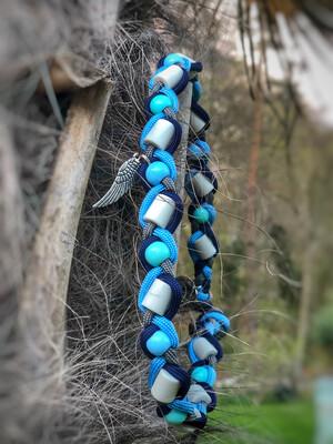 EM- Keramikkette gegen Zecken für einen Halsumfang von ca. 41-46cm
